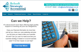 Belsoft Strategic accounting website created in WordPress