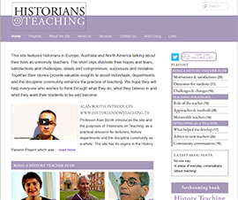 Historians on Teaching website