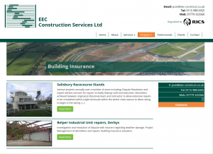 Projects filtered by custom catagory on the EEC construction website