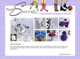 Purplespice jewellery website